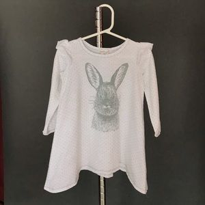 Other - Long sleeve bunny tunic with ruffled shoulders